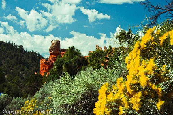 A landscape taken Sep. 10, 2007 near Bryce Canyon National Park.