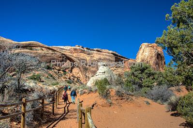 Arches National Park, Landscape Arch and Partition Arch
