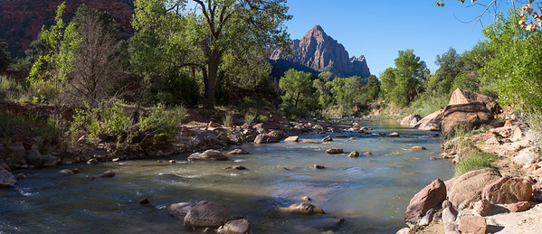 Stream close to entrance at Zion National Park.