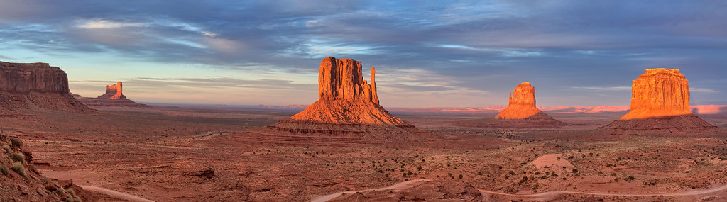 Sundown. Monument Valley, Navajo Nation.