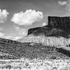 372  G Red Rocks and Clouds BW