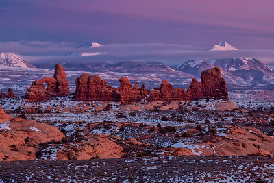 Turret Arch and La Sal Mountains 1