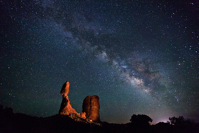Balanced Rock and The Milky Way 2