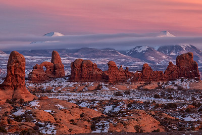 Turret Arch and La Sal Mountains  2