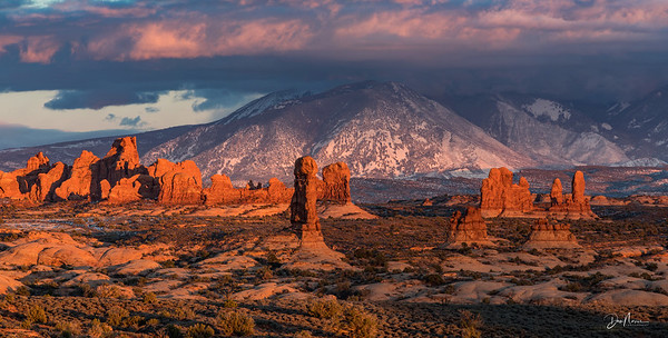 Arches Sunset Panorama