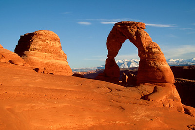Delicate Arch Sunset Arches National Park near Moab, Utah
