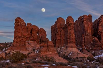 Super Moonrise over Garden Of Eden Towers -  Horizontal
