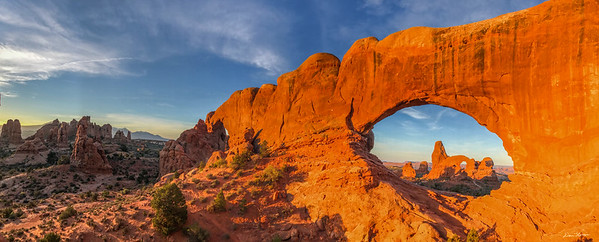Turret Arch through the North Window Panorama