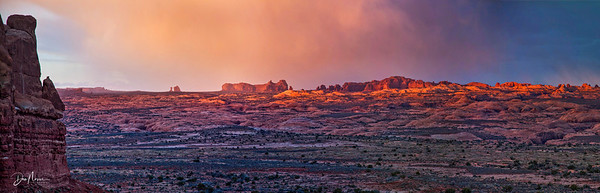 Arches Stormlight Panorama