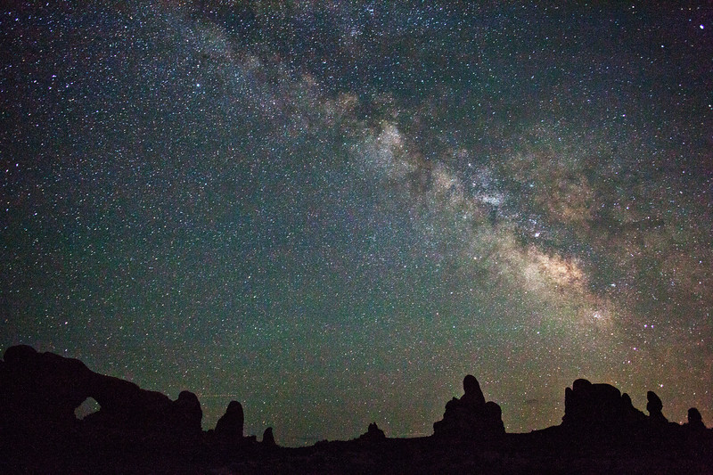 The North Window and The Milky Way.  Arches National Park.