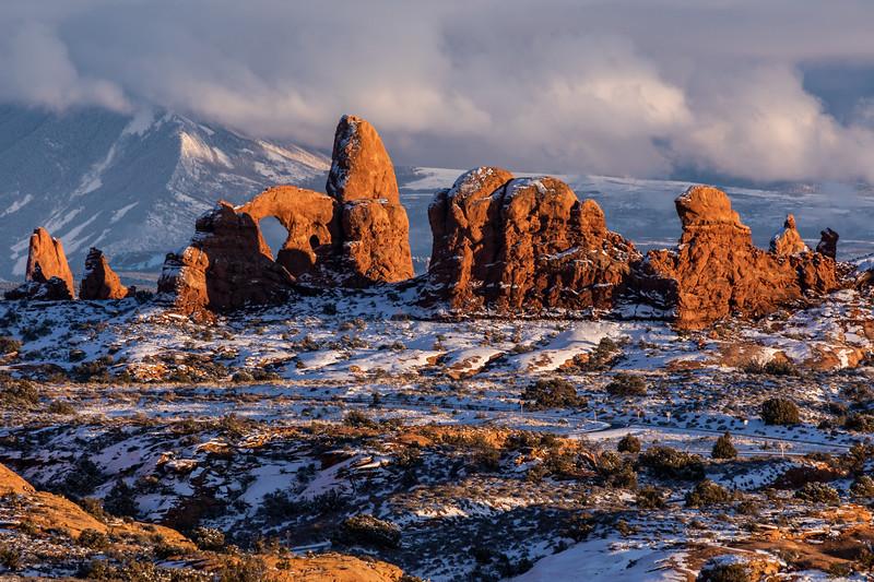 Turret Arch Winter Sunset