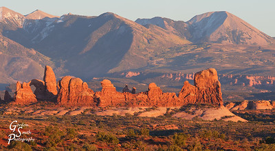 Windows of Arches at Sunset