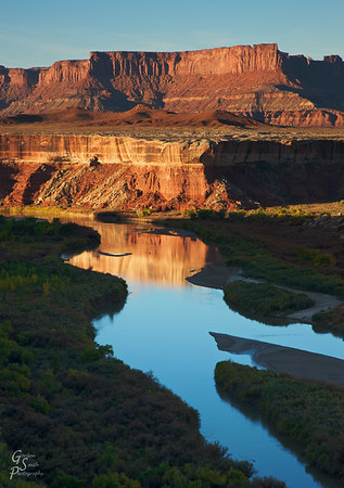 Green River Reflections of Gold
