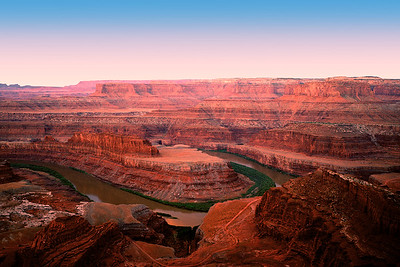 Pre-Dawn.  Colorado River gooseneck.  Deadhorse Point State Park.