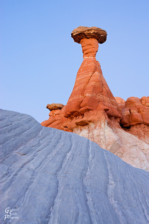 Toadstool Hoodoo is located just on the southern border of Grand Staircase Escalante NM, near the Paria River.