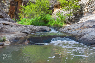 Pools in Slot Canyon