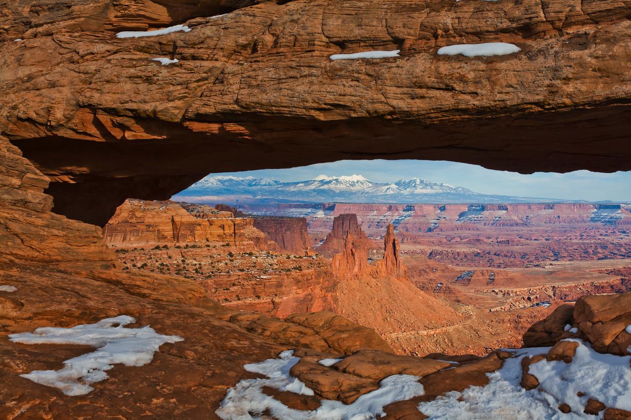 Mesa Arch Sunset - February