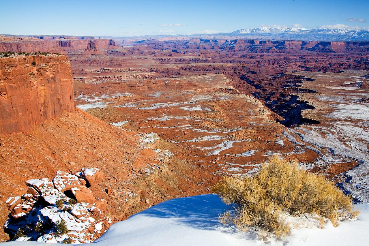 Buck Canyon Overlook in Winter