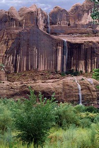 Waterfalls along Potash Road.  Photo taken years ago and scanned from 35 mm film.
