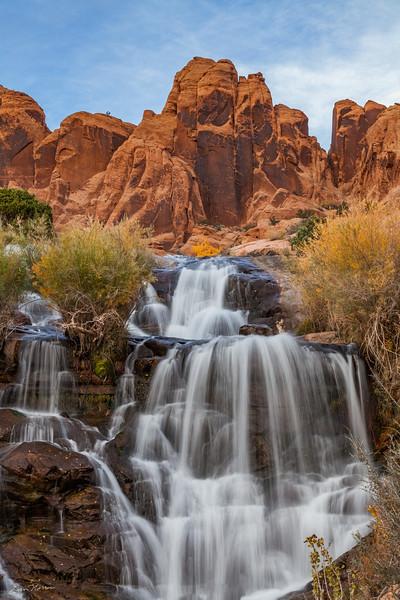 Faux Falls south of Moab, Utah.