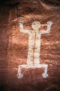 White Canyon Pictograph.  Natural Bridges N.M., Utah.
