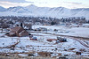 The town of Richfield, Utah, at sunrise, from atop a knoll off UT-119E. It had snowed heavily the day before.