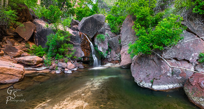 Right Fork Oasis and Waterfall