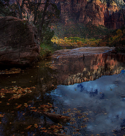 Emerald Pool Reflection