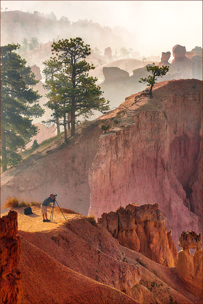 Fotoman capturing Bryce Canyon, UT.