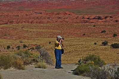 My sister Mary photographing the landscape.