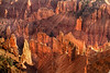 Hoodoo Judge<br /> <br /> Sunrise illuminates a robed figure tucked back among the hoodoos.<br /> Cedar Breaks National Monument, Utah, USA