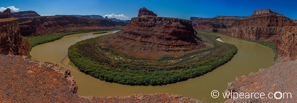 This shot is a 35 frame composite HDR of the Colorado River gooseneck at the bottom of Shafer Canyon in between Canyonlands NP and Deadhorse SP.  The shot is from Potash Rd (loosely defined as a road... more of a dirt trail accessible by 4x4).