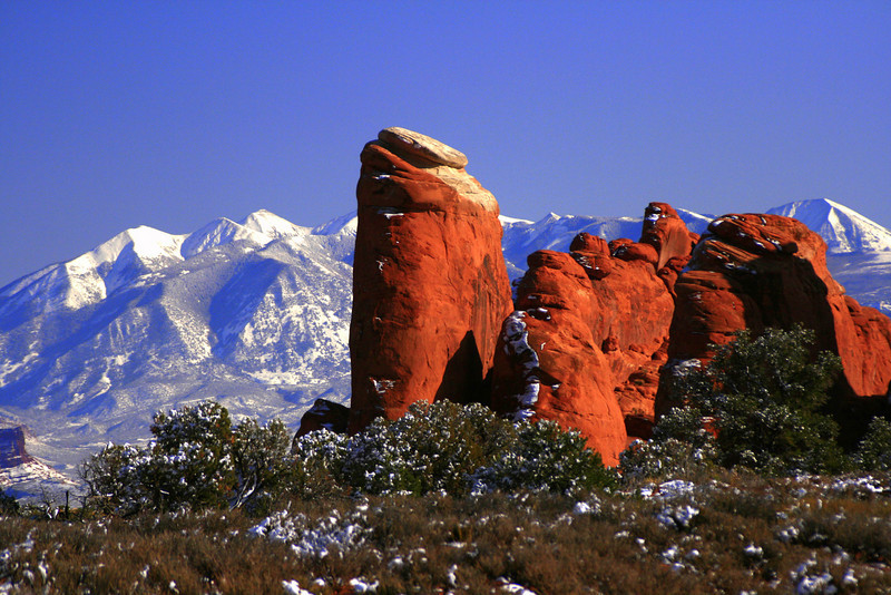 La Sal Mountains backdrop from Arches NP