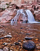 Fremont Falls<br /> <br /> The crystal clear waters of the Fremont River Falls<br /> Capitol Reef National Park, Utah, USA