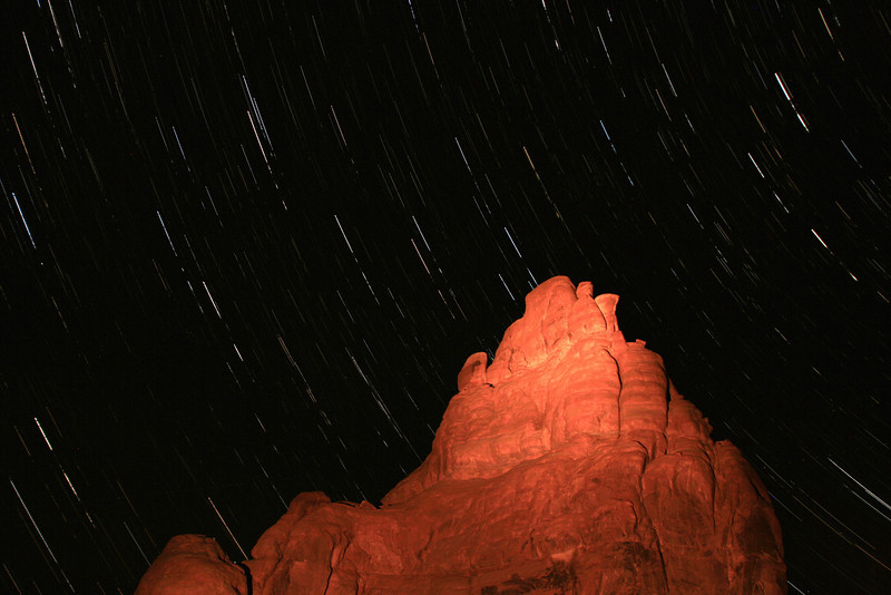 first attempt at:  Star Trails in Arches