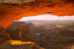 Sunrise glow, Mesa Arch, Canyonlands National Park