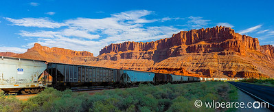 The Potash Train at the Potash plant on Potash Road outside Moab.