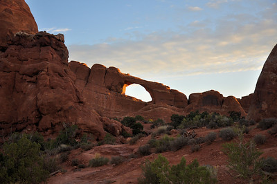 Skyline Arch soon after  sunrise.