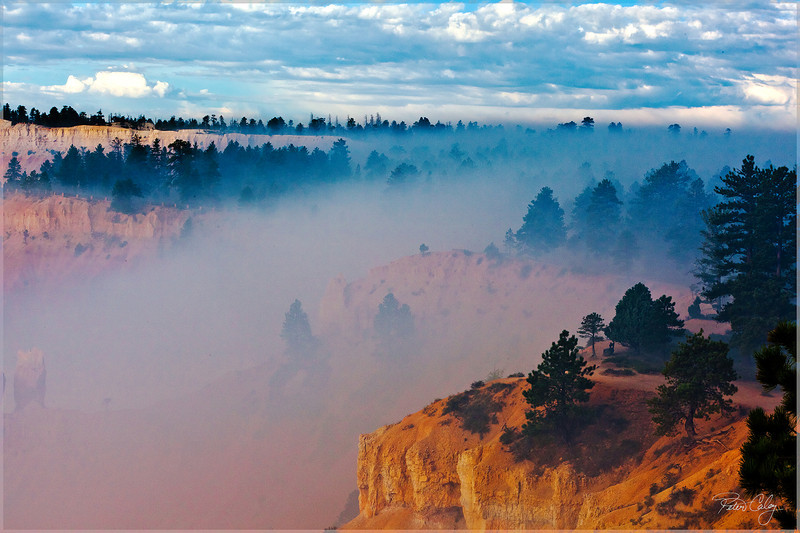 Smoke Settles in Bryce Canyon.
