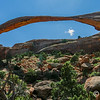 Landscape Arch, Arches National Park.  The longest arch in the park at 300' (football field) wide.