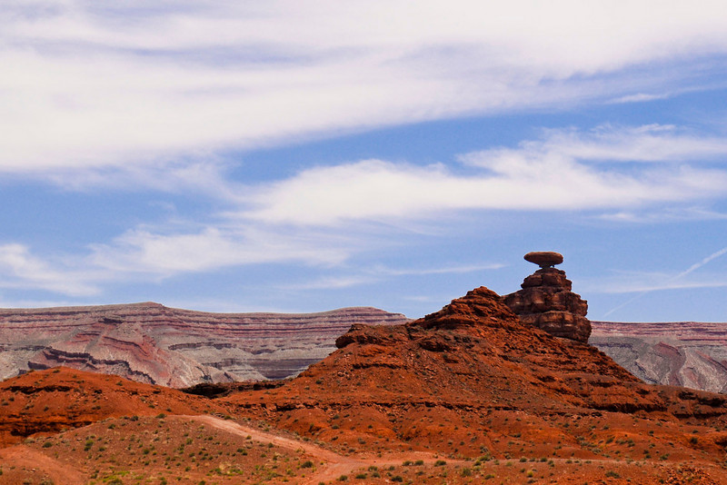 "Mexican Hat, Utah.  John Ford filmed ""She Wore a Yellow Ribbon"" here as well as in Monument Valley.  It starred John Wayne as Captain Nathan Brittles, US Cavalry."