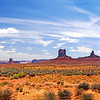 This is 7 pictures stiched together in a pano.  I want to come back through here and catch the sunrise and sunset and a different perspective.  This isn't the classic Monument Valley viewpoint.  I was traveling and had to take what I could get.