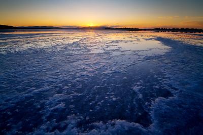 Salt at the Great Salt Lake, Utah