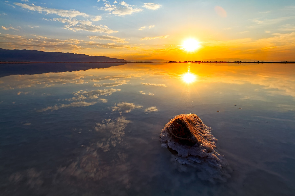 Rock in Salt Flats