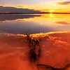 salt flats sunset