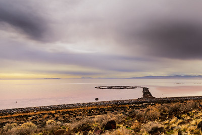 Hazy Shade of Fall at the Spiral Jetty