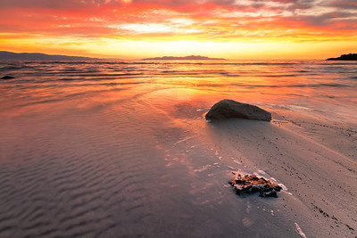 Windy sunset Great Salt Lake