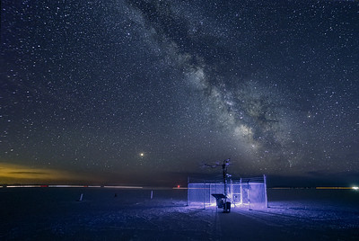 BFLAT MesoWest weather station and the milkyway!