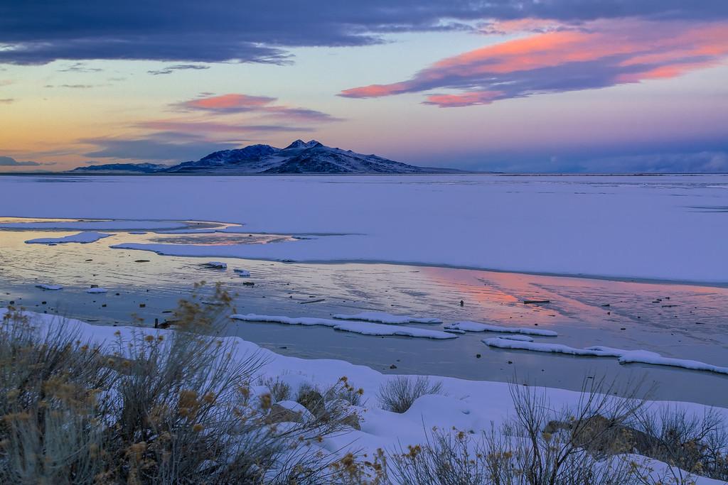 Great Salt Lake Sunset 1 9 14