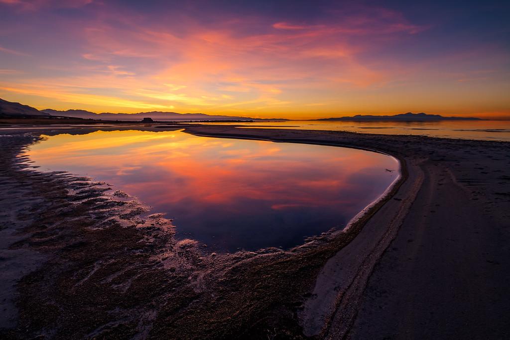 Sunset Beach Great Salt Lake, Utah
